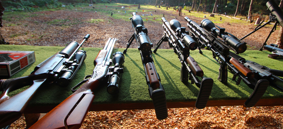 Extreme High-Powered Air Rifles on Table